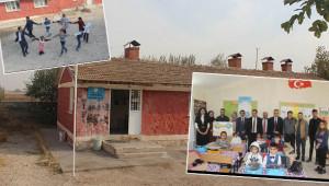 Gönüllüler, köy okuluna mutluluk taşıdı