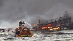 Güney Kore Açıklarında Balıkçı Teknesi Yandı; 1 ölü, 11 kayıp