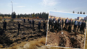 Havalimanı personelleri de ağaç dikerek destek oldu