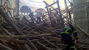 İnşaatın iskelesi çöktü: 1 işçi kayıp