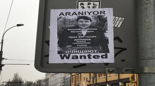 Kiev sokaklarına 'Tosuncuk' için yeni afişler asıldı