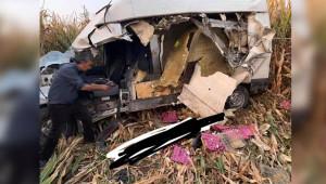 Mısır tarlasına uçan aracın sürücüsü öldü