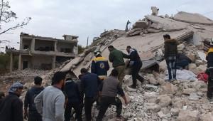 Rus uçakları İdlib'i vurdu: 3 ölü, 2 yaralı
