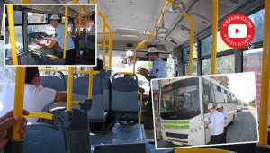 Şehir içi otobüsleri denetlendi