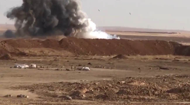 Tel Abyad'da bomba yüklü araç imha edildi