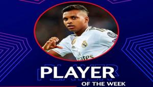 UEFA Şampiyonlar Ligi'nde Haftanın Futbolcusu; Rodrygo