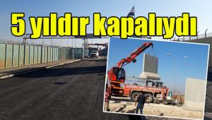 Urfa'daki sınır Kapısı yeniden açıldı