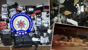 114 bin paket kaçak sigara ele geçirildi