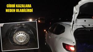 12 aracın lastiği patladı