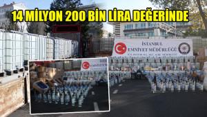 250 ton sahte ve kaçak içki yakalandı