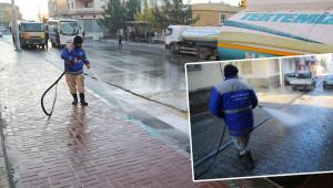 Haliliye 'şoklama' ile sokakları temizliyor