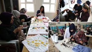 Kadınlar bu kurslarla ev ekonomisine katkıda bulunuyor