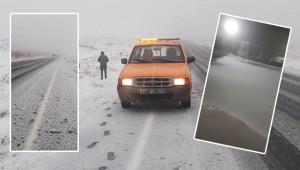 Karacadağ'a mevsimin ilk karı yağdı