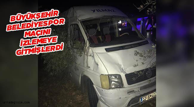 Minibüs devrildi 9 kişi yaralandı