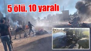 Rasulayn'da bomba yüklü araç patladı