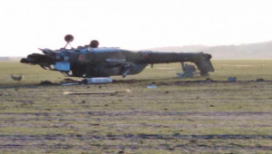 Rus askeri helikopteri takla atarak düştü; 2 ölü