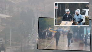 Şanlıurfa'da sis ve yağmur etkisi