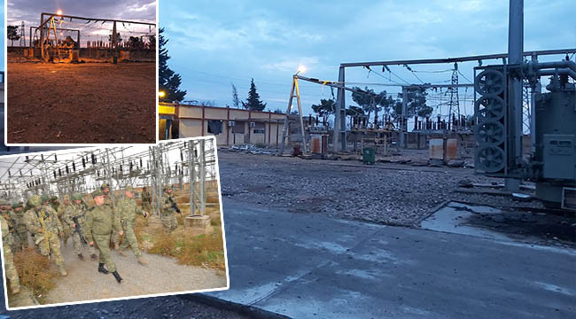 Tel Abyad kırsalına elektrik verildi
