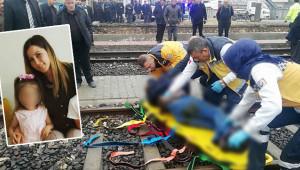Tren kazasında anne öldü kızı ise yaralandı