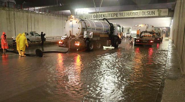 Urfa kuvvetli yağışın etkisine giriyor