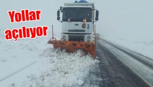 Viranşehir'de kar yağışı