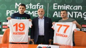 Alanyaspor'da Mustafa Pektemek ve Emircan Altıntaş
