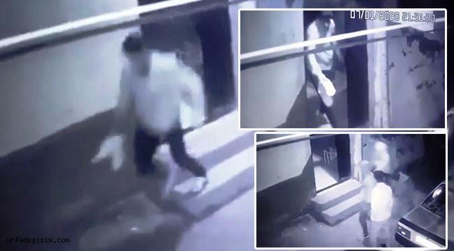 Ayakkabı çalarken, kameralara yakalandı