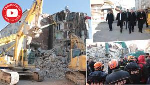 Başkanlar ve Vekil Özcan deprem bölgesini inceledi