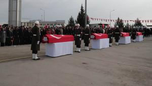 Şehit askerler memleketine uğurlandı