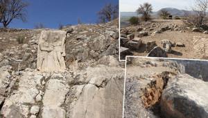 Tarihi ören yeri de depremden etkilendi