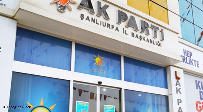 Ak parti Şanlıurfa yönetimi belli oldu