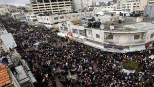 Filistinliler Orta Doğu barış planını protesto etti