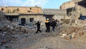 Halep'e hava saldırısı; 5 ölü