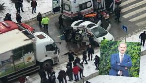 Kamyon ile otomobil çarpıştı; 1 ölü, 5 yaralı