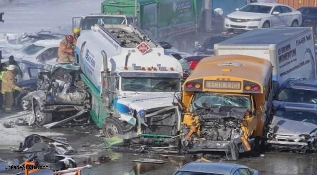 Kanada'da 200 araç zincirleme kazaya karıştı; 2 ölü, 70 yaralı