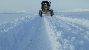 Kar kalınlığı 1,5 metreyi geçti