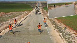 Kırsalda yollar, beton ile donatılıyor