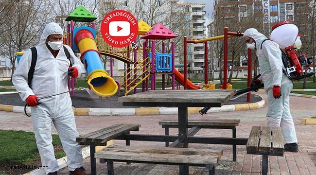116 park ve çocuk oyun alanı dezenfekte edildi