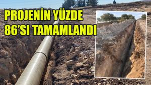 31 bin dekar arazi sulama projesi devam ediyor