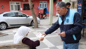 Bozova Belediyesi 14 kural broşürü dağıttı