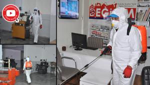 Bürolar da dezenfekte edildi
