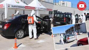 Büyükşehir, araçları ücretsiz dezenfekte ediyor