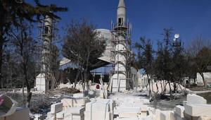 Eyüpnebi'deki Camii inşaatı yükseliyor