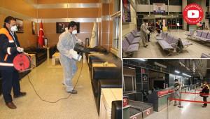 GAP Havalimanı dezenfekte edildi
