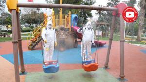 Haliliye'de parklar dezenfekte ediliyor