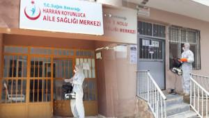 Harran'da Aile Sağlık Merkezleri dezenfekte edildi