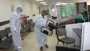 Harran'da dezenfekte çalışmaları başladı