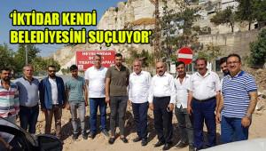 Heyelan bölgesi Bakan'a soruldu