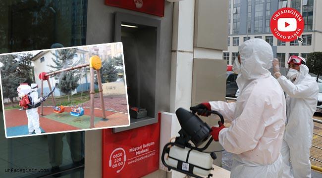 Kamusal alanlar ve toplu kullanım alanları dezenfekte ediliyor