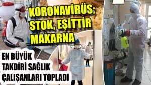 Koronavirüs; stok, eşittir makarna